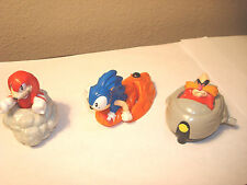 Sonic Hedgehog 3 Piece Lot  McDonalds Happy Meal Toys 1994