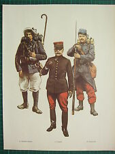 VINTAGE WW1 WWI PRINT FRANCE PRIVATE 1st CLASS MOUNTAIN RIFLES GNERAL FOCH 54th