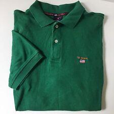 US Polo Assn. Men's XL Extra Large Polo Shirt Green Short Sleeved 100% Cotton