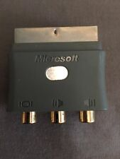 Official Xbox 360 Original Grey Scart Connector Adaptor Box