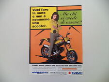 advertising Pubblicità 1998 MOTO SUZUKI STREET MAGIC TR 50 S