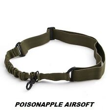 Militaire vert point unique 1 point tactique bungee sling pour airsoft fusil pistolet