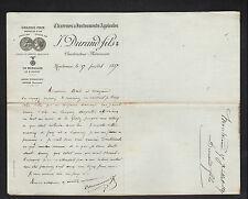 """MONTEREAU (77) MACHINES AGRICOLES & OUTILLAGE """"J. DURAND Fils"""" en 1887"""