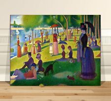 "Georges  Seurat Sunday Afternoon~ CANVAS PRINT 36x24"" ~  Classic Pointalism Art"