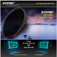 Zomei 82mm Ultra Slim Multi-Coated 18 layers HD ND2-400 Fader Variable ND Filter