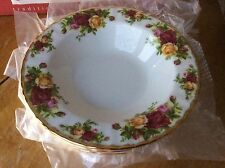 4 - Royal Albert Old Country Roses Rim Soup Bowls ENGLAND