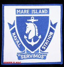 US NAVAL SHIPYARD MARE ISLAND PATCH MINSY SERVIMOS PIN UP USS VALLEJO GIFT WOW