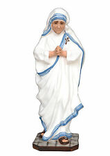 Saint Mother Teresa of Calcutta resin statue cm. 60 with glass eyes