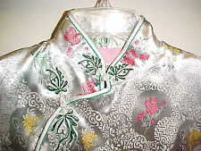 Asian Oriental Japanese Chinese Sz M Floral Long Party Dress Handmade Cheongsam
