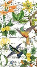 TWO (2) Hummingbird Paper Hostess Napkins for Decoupage and Paper Crafts