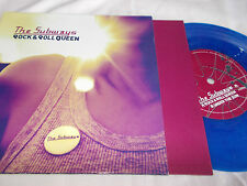 "SUBWAYS - ROCK & ROLL QUEEN  - UK 7""PIC/SLV - BLUE VINYL WITH PAPER INNER SLEEVE"
