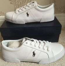 BNIB MENS POLO RALPH LAUREN FELIXSTOW LEATHER TRAINERS/SNEAKERS SHOES SIZE 8