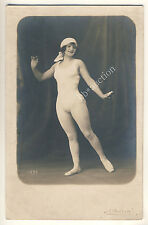 French EROTIC ACROBAT BALLET DANCER GIRL / Tänzerin * Vintage 1900s Photo PC