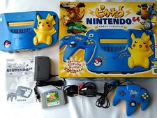 Nintendo64 Pokemon Pikachu limited Console, Pad,PSU,AV cable,Boxed Set/Tested-J-