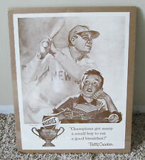 VINTAGE BABE RUTH POSTER FOR WHEATIES NEW YORK YANKEES RARE
