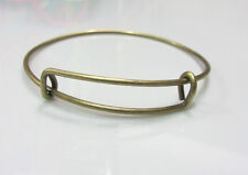 New hot 1X Expandable adjustable size Bangle DIY Jewelry Bronze color