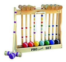 "Amish-Made Deluxe 8 Player Croquet Game Set, 32"" Handles"