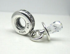 Authentic Pandora #791890CZ Pacifier Charm with Clear CZ