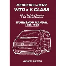 Mercedes-Benz Vito & V-Class 1996-1999 Owners Workshop Manual book paper