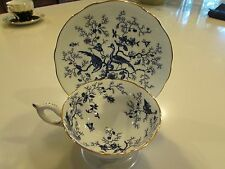 "COALPORT ""CAIRO"" TEA  CUP AND SAUCER BLUE AND WHITE"