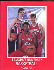 1984/1985 NCAA Basketball St. John's Yearbook With Chris Mullin Cover EXMT+