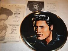"Delphi Elvis Portriats of the King plates - ""Love me Tender"" plate #1 - nib"