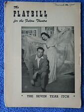 The Seven Year Itch - Fulton Theatre Playbill - March 1954 - Tom Ewell