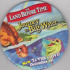 """VINTAGE 3"""" PINBACK #28-082 - MOVIE - THE LAND BEFORE TIME: JOURNEY TO BIG WATER"""