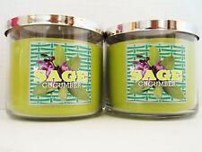 Bath Body Works SLATKIN Co., SAGE CUCUMBER, 3-wick Candles 14.5 oz.  NEW x 2