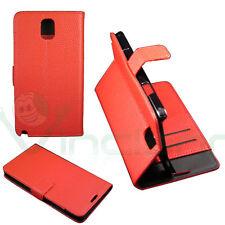 Custodia BOOK STAND pelle per Samsung Galaxy Note 3 N9005 III ROSSO porta-fogli