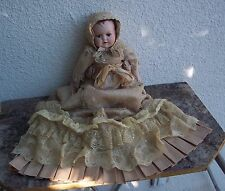 Victorian Doll Wayne Kleski Katherine's Collection Christening Gown Lace Musical