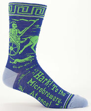 Dress Crew Socks Hark! To the Microbrewery, at Once! NWT Mens Size 7-12 BLUE-Q
