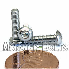M3 x 12mm - Qty 10 - A2 Stainless Steel BUTTON HEAD Socket Cap Screws - ISO 7380