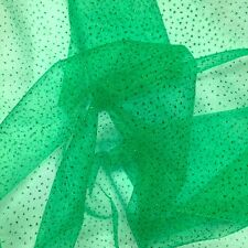 """Sparkle Glitter Tulle Fabric Wedding Decoration Craft Event 60"""" - Kelly Green"""