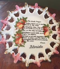 The Lords Prayer Decorative Plate Wall Hanging Souvenir Florida