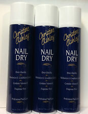 3 Christine Ashley NAIL DRY Spray Nail Polish Dryer Moisturizing Cuticles 7.5oz