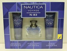 NAUTICA VOYAGE N-83 Gift Set Men EDT After Shave Shower Gel Perfume Fragrance