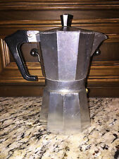 Aluminum Stovetop Espresso Coffee Miniature Maker Pot 3 piece made in Italy