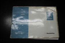Mercedes Benz Voiture Ancienne W114 W115 Handleiding Manuel D'instructions