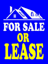 "For Sale or Lease Business Retail Display Sign, 18""w x 24""h, Full Color"