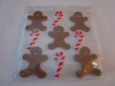 GINGERBREAD & CANDY CANE FOAM HOLIDAY STICKERS/NEW