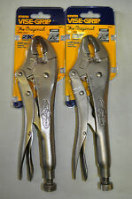 Irwin Vise-Grip 10WR Locking Pliers Curved Jaws w/cutters 2 Pcs Sale !!!