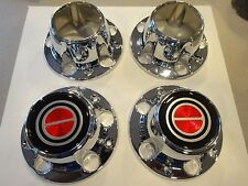1980 to 1996 FORD F150 / BRONCO 4X4 RED EMBLEM  NEW WHEEL  CENTER CAPS SET