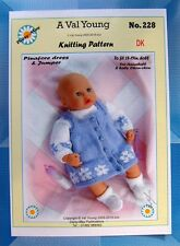 """DOLLS KNITTING PATTERN   Annabell No 228 by Daisy-May 17""""-19"""" doll"""