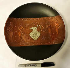 Very Unusual IRON Egyptian Decorative Plate from Japan/Japanese-ship free