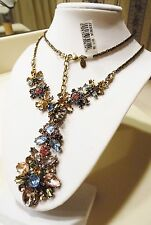"""Joan Rivers Jeweled Cluster 32"""" Pendant Necklace w/ 3"""" Extender"""