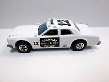 Hot Wheels 1979 White Highway Patrol #12 On Roof HK Base bw Rims Mint Loose C9+