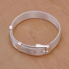 beautiful Fashion 925 Sterling silver Plated  watch style cute bracelet H237