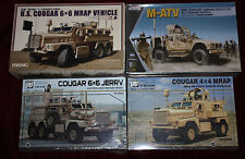 "4- 1/35 MRAP's & COUGARS  6X6 & 4X4  ""ALL SEALED"""
