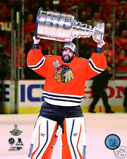 2015 Stanley Cup Champions Chicago Blackhawks 8x10 photo Corey Crawford w/Cup